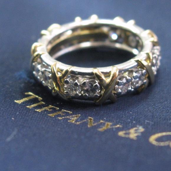 16c1048bc Tiffany & Co. Jewelry | Tiffany Co Platinum18kt Schlumberger 16stone ...